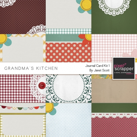 Grandma's Kitchen - Journal Card Kit 1