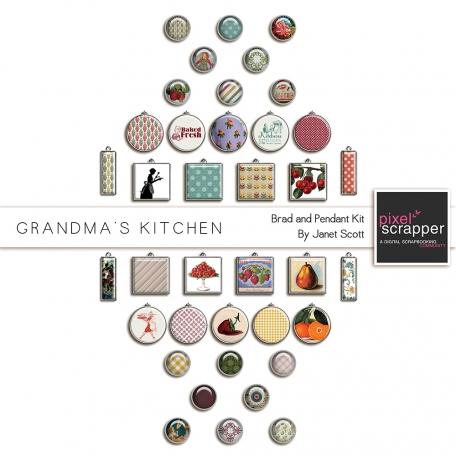 Grandma's Kitchen - Brad and Pendant Kit