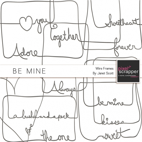Be Mine - Wire Word Art Frames Kit