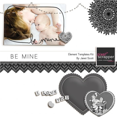 Be Mine - Element Templates Kit