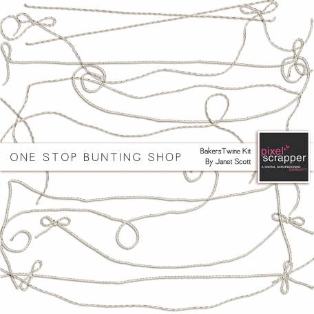 One Stop Bunting Shop Bundle - Baker's Twine Bunting Strings Kit