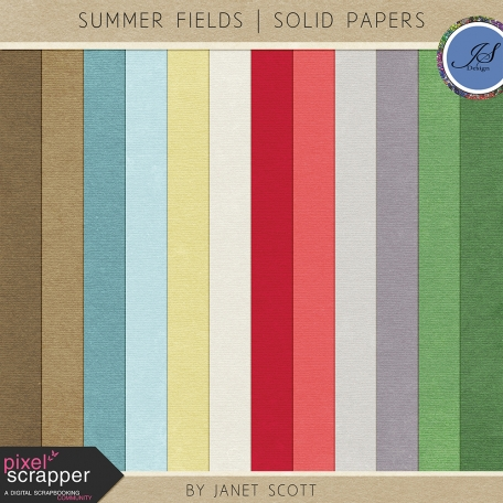 Summer Fields - Solid Paper Kit