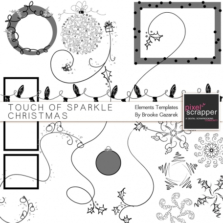Touch of Sparkle Christmas Elements Templates Kit