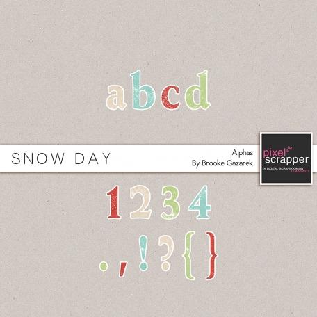 Snow Day Alphas Kit