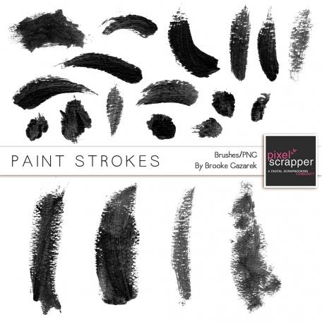 Paint Stroke Brushes Kit 001-020
