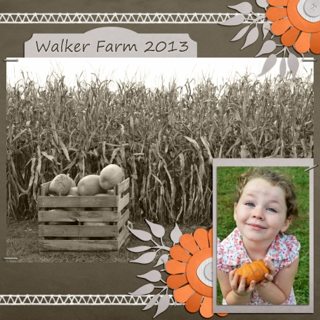 Youngest Daughter at the Pumpkin Farm