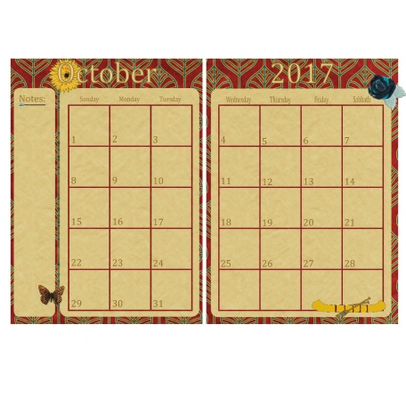 October Month Planner