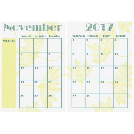 Elegant Autumn Calendar