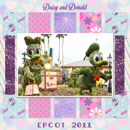 Daisy and Donald Duck Topiary at EPCOT DisneyWorld