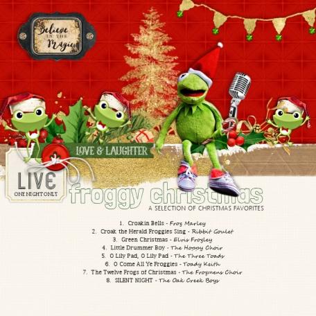 Froggy Christmas Carols