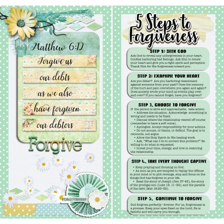 Steps to Forgiveness (Travelers Notebook)