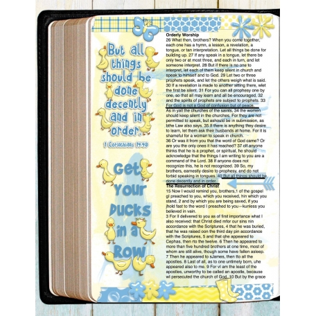 Bible Journaling  Ducks 1 Corinthians 14:40