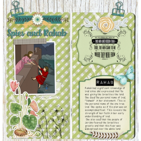 BIble Journaling in a Travelers Notebook: Rahab