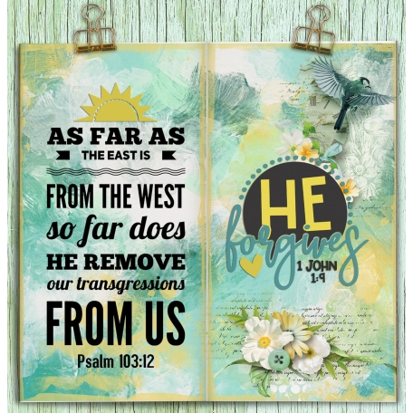 Bible journaling in a Travelers Notebook: Forgiveness