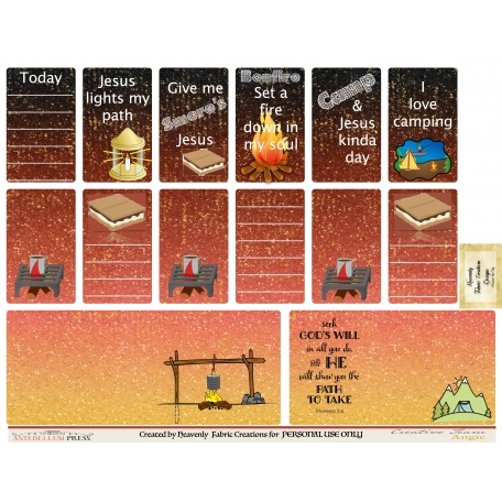 Bonfire Planner Stickers