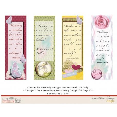 Delightful Days Bookmarks