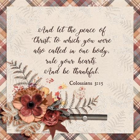 November 2019 Scripture Challenge
