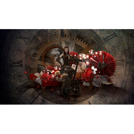 wallpaper Steampunk love