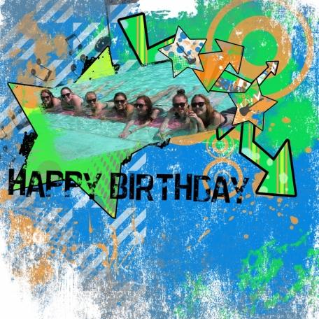 Teen Birthday Grunge