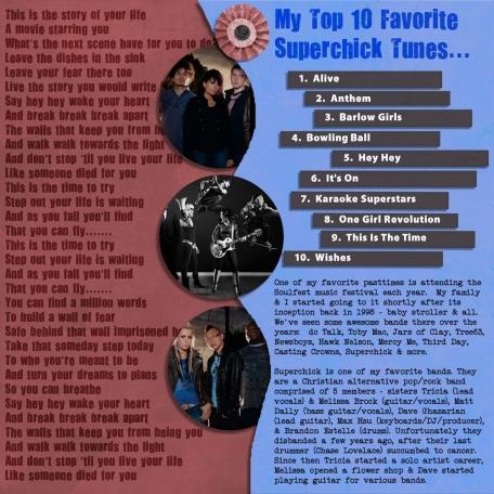 Top 10 Favorite Superchick Tunes