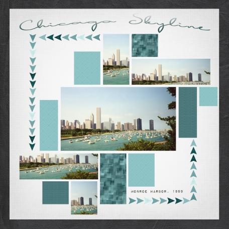Chicago Skyline Monroe Harbor