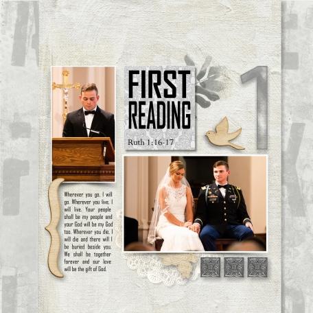 First Reading Wedding
