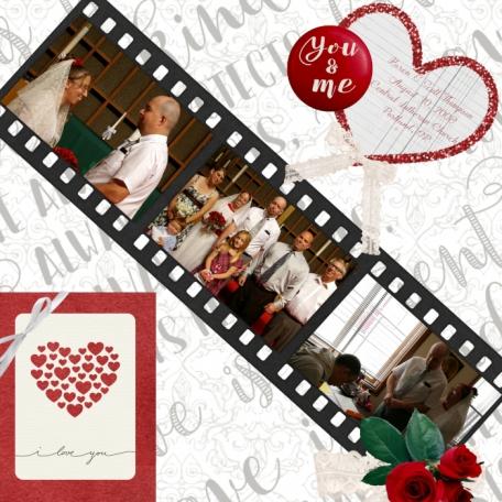 Karen & Scott's Wedding Scrapbook Layout