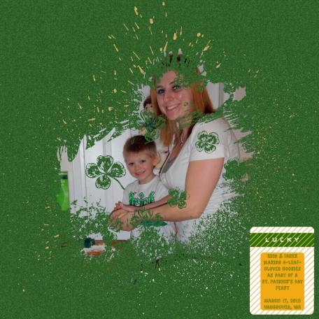St. Patrick's Day 2013 Scrapbook Layout