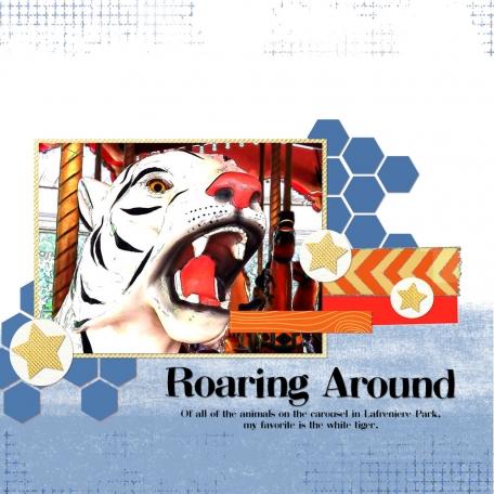 roaring around