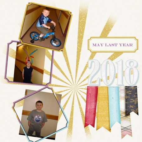 What Happened in May Last Year (or any year) Layout Challenge