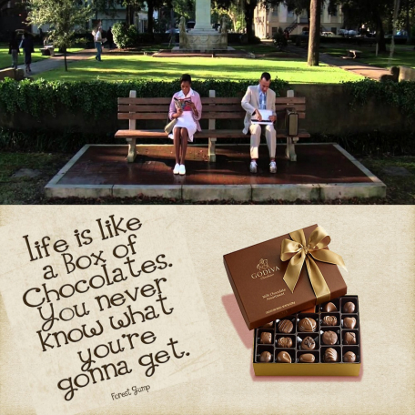 Life is Like a Box of Chocklates