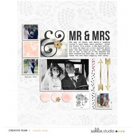 Mr & Mrs - July Template freebie 2019