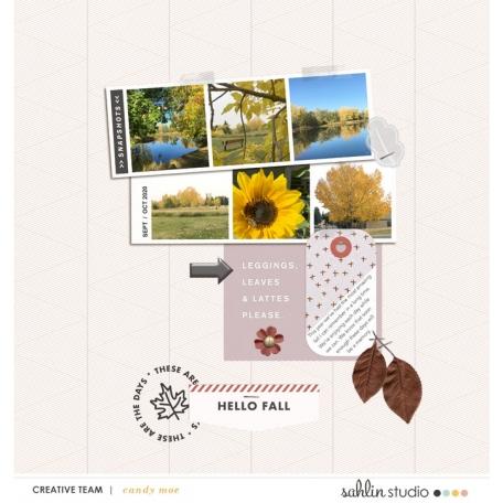 October Template Freebie | Sahlin Studio