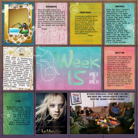 Project Life ~ Week 15, Left Side