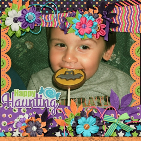 Happy Haunting Chocolate Lollipop