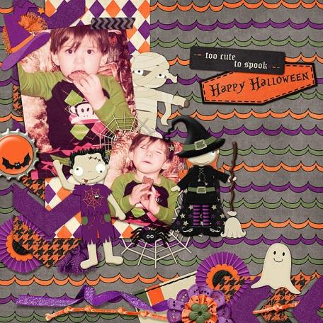 Too Cute To Spook/Happy Halloween