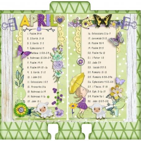 Celebrating His Presence, Reading Plan for April's devotional
