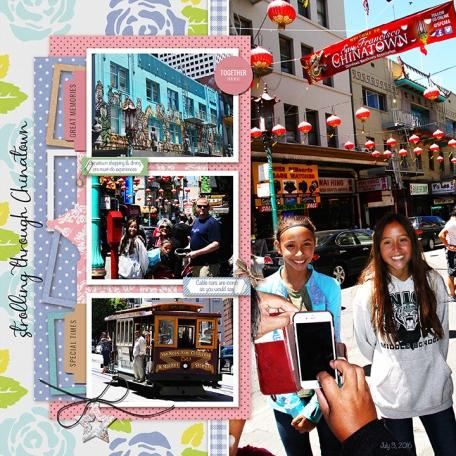 Strolling through Chinatown