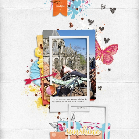 architecture chairs sun scrapbook layout