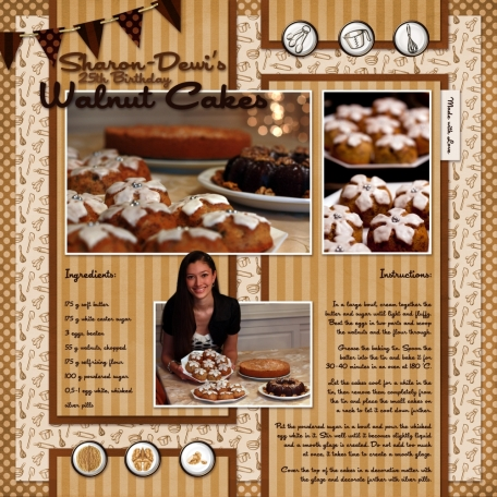 Walnut Cakes Recipe
