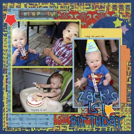 Zack's first birthday