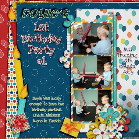 Doyle's 1st birthday party