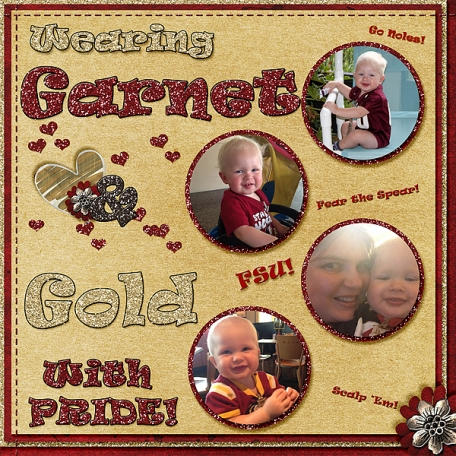 Wearing Garnet and Gold with Pride
