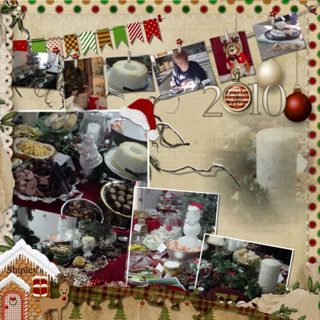 2 page christmas party layout