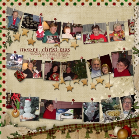 Page two of a 2 page Christmas Party Layout