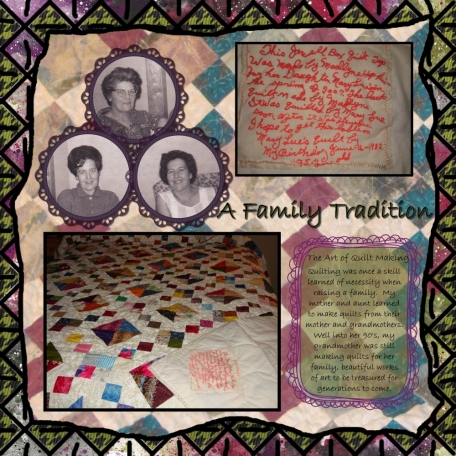 A Family Tradition -- Quilting