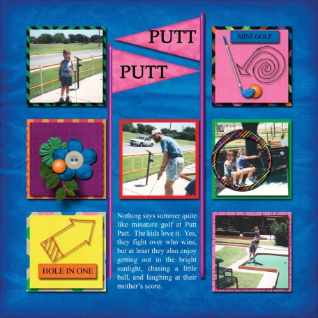 A Fun Day at Putt Putt