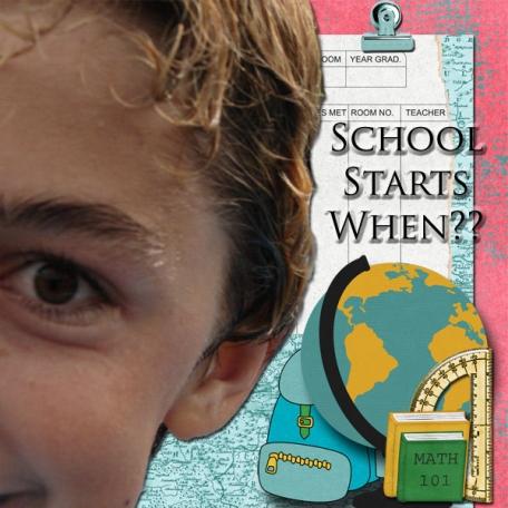School Starts When?