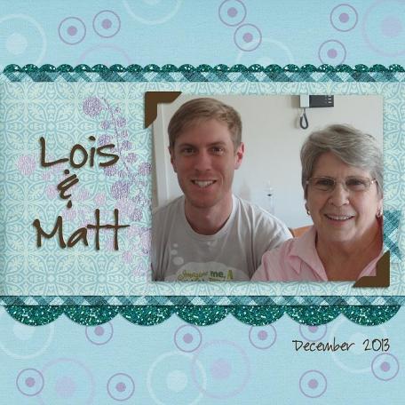 Matt & Mum - December 2013