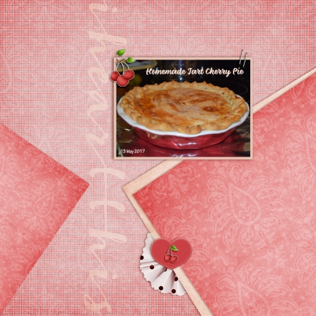 Homemade Tart Cherry Pie by Tina Shaw   Pixel Scrapper ...